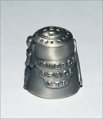 Houston Space Center (Texas) pewter souvenir thimble. Excellent details; mint -.