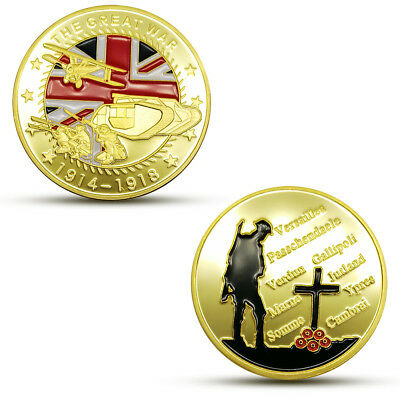 100th anniversary world war commemorative coin Military medal Crafts