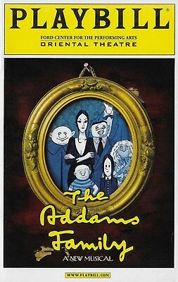 ADDAMS FAMILY the musical out of town Chicago Try-out PLAYBILL
