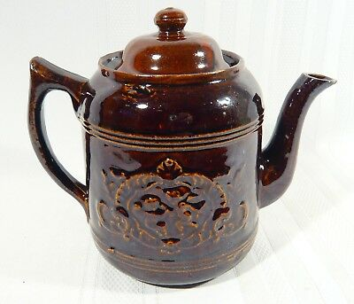 Rare Vintage Foley  Pottery ST. JOHNS NB CANADA Teapot  Embossed CHERUBS Candian