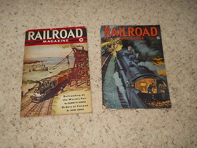 TWO early vintagecollectible Railroad magazines!!