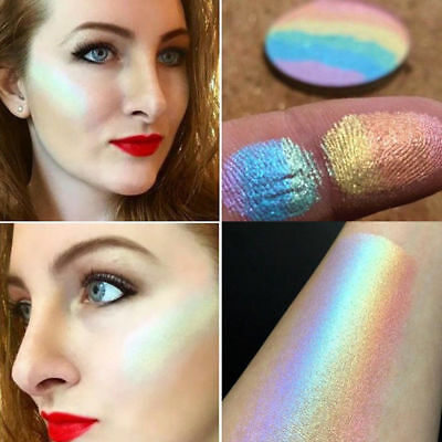 Rainbow Highlighter Shimmer Eyeshadow Palette Blusher Contour   Makeup SP