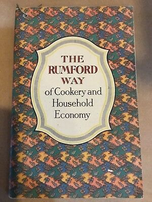 1912 The Rumford Way Of Cookery And Household Economy