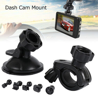 Car Window Windshield Glass Suction Cup Mount + Mirror Mount, 5 Joint Clips