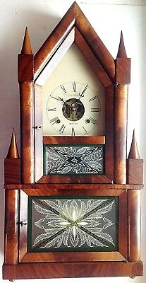 Reproduction Of A Birge & Fuller Double Steeple Or Steeple-On-Steeple Clock
