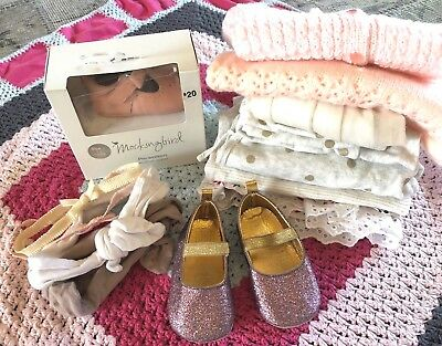 Bulk Lot of Baby Girls Clothing, Knitted, T-bar Shoes & Accessories. Size 000-00