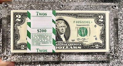Uncirculated 2013 Two Dollar STAR NOTE 100 Pack Atlanta $2 Bill Low Production