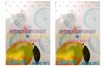 High Hemp Hydro Lemonade Wraps 2 Box 50 Pouch (100 Wraps) NON GMO ORIGINAL
