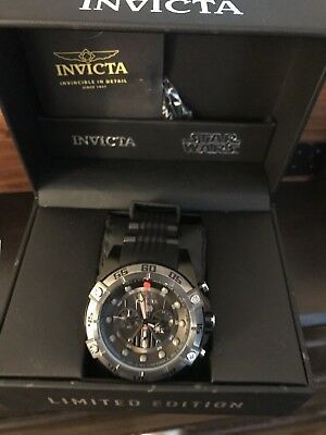 Invicta Star Wars Mens Darth Vader 52mm Limited Edition Quartz Chronograph Watch