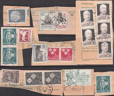 Sweden  Collection Of (19) Stamps  On Paper Used