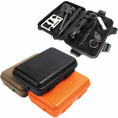 EDC Outdoor Survival Case Waterproof Sealed Box Survival Travel Camping Cases