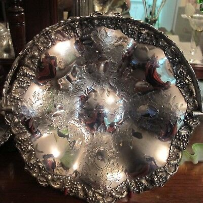 Stunning Antique  Victorian Silver Plate Fruit Bowl