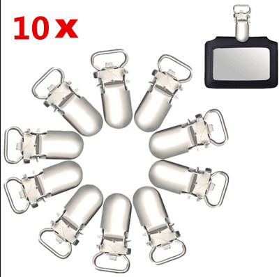10/20Pcs 10mm DIY Craft Insert Pacifier Metal Holder Suspender Clips Hook Mitten