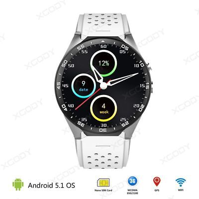 WHITE Android 3G WIFI Bluetooth Smart Watch 4GB Bluetooth Heart Rate SIM GSM GPS