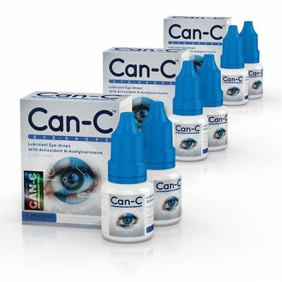 Can C, Can-C Eye-Drops, Cataract Treatment Without Surgery, 3 Pack (6 Vials)