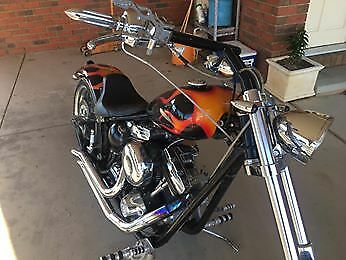 harley custom chopper softail
