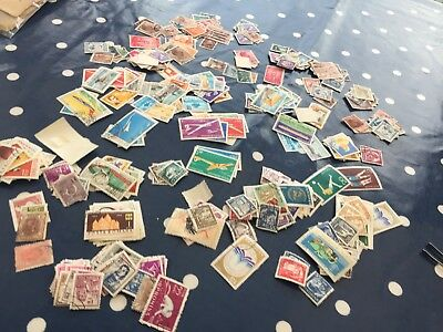 Romania 100's of stamps off paper direct from estate ideal sorter