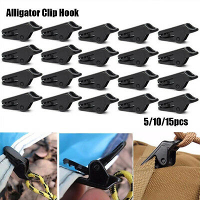 Neu Tarp Clips Clamp Awning Set Car Boat Cover Tent Tie Down Emergency Snap NEU.