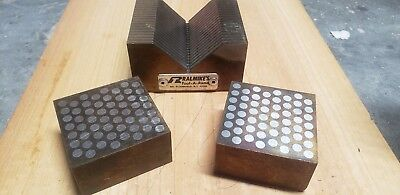 Ralmikes Tool-a-rama Magnetic Transfer V block And Matching Block set. Excellen.