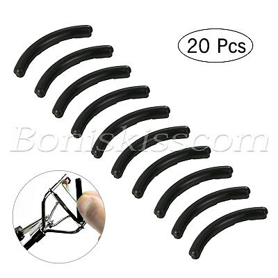 20X Beauty Eyelash Curler Silicone Rubber Refill Pad Replacement Set Makeup Tool