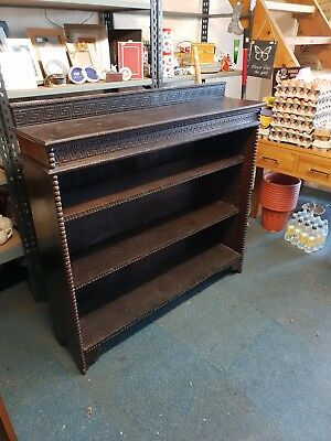 Solid Oak Vintage / Retro / Antique Bookshelf - Dark Brown