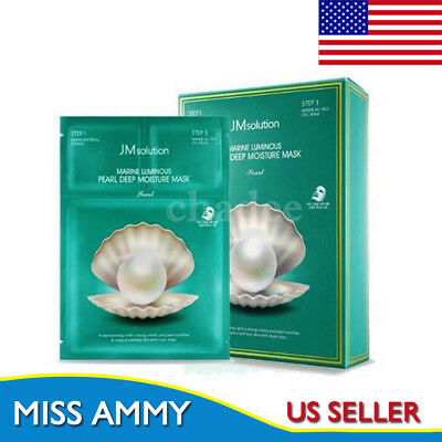 [JM solution] 3 Step  Marine Luminous Pearl Deep Moisture Mask 10 Sheet