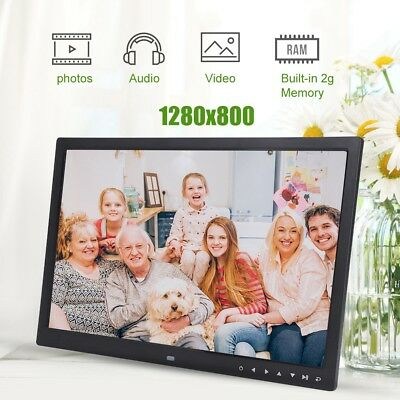 "17"" Digital Bilderrahmen Uhr MP3 MP4 Movie Player HDMI Kalender Fotorahmen"