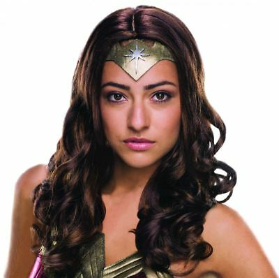 Deluxe Adulto Wonder Woman Parrucca Donna Halloween Accessorio Costume 95f3c1f76213