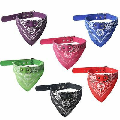 Dog Bandana Collar- Adjustable Cat Pet Neckerchief- 5 Sizes& 6 Colours Available