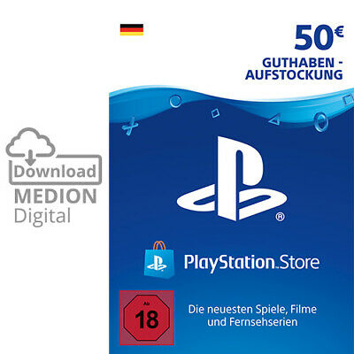 Sony Playstation Network Card 50€ Euro PSN PS3 PS4 Vita Guthaben Download Code