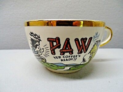 Coffee Cups Maw and Paw Coffee Cups Ceramic Vintage