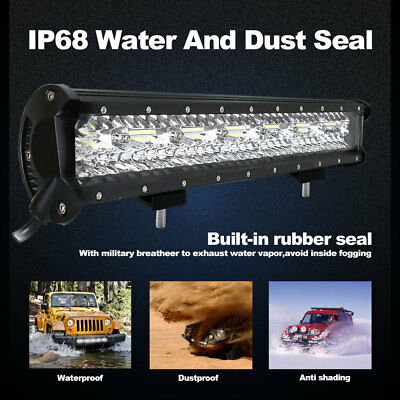 20Inch DUAL ROW LED Work Light Bar Offroad 12V 24V ATV 4x4WD Truck 420W 140000LM