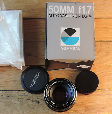 50 mm 1 : 1.7 Yashinon DS-M, monture M42, neuf en boîte (new in box)