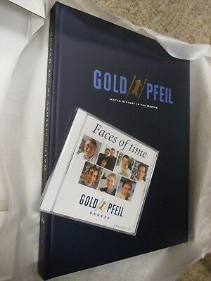 GOLD PFEIL NewOldStock Watch History in the Making Rare '01 Hardcover Book & DVD