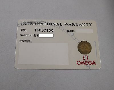 Omega Constellation Watch White Plastic International Warranty Card Ref 14657100