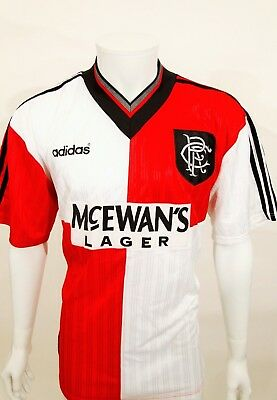 Genuine Vintage 1995 Glasgow Rangers Away Football Top Sz Xl