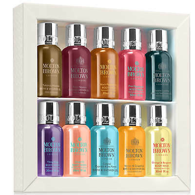 Molton Brown Refined Discovery Bath &Shower Collection 10x30ml #1111 DAMAGED BOX