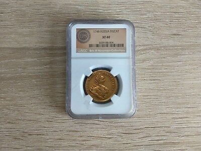 2 Russia gold coins DUCAT 1748 and 10 Rubles 1764СПБ