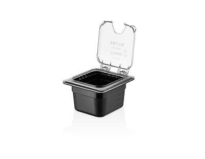 TemoWare Polycarbonate 1/6 Size Gastronorm Container Flip Lid - Notched