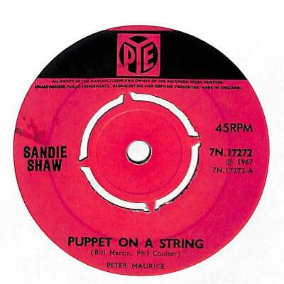"Sandie Shaw - Puppet On A String - 7"" Record Single"