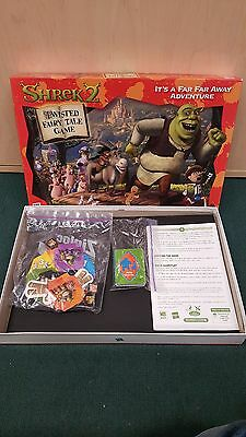 Shrek 2: Twisted Fairy Tale Board Game Counted and Complete Hasbro 2004