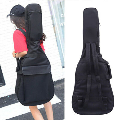 """41"""" inch Electric Acoustic Guitar Bag Case Bass Carry Shoulder Straps Waterproof"""