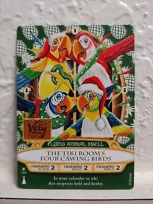 Sorcerers of the Magic Kingdom 2018 Christmas Party Card Tiki Room