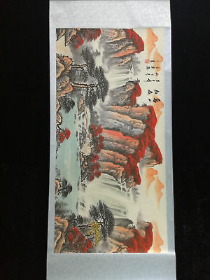 Excellent Chinese 100% Hand Painting & Scroll Landscape By Li Keran #44