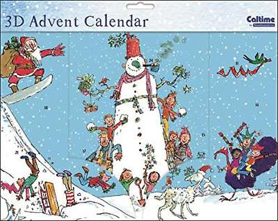 Caltime Character Paper Christmas Advent Calendar 410994 Quentin Blake