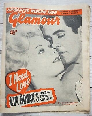 Glamour Newspaper 3rd July 1959 Kim Novak Cover & Feature