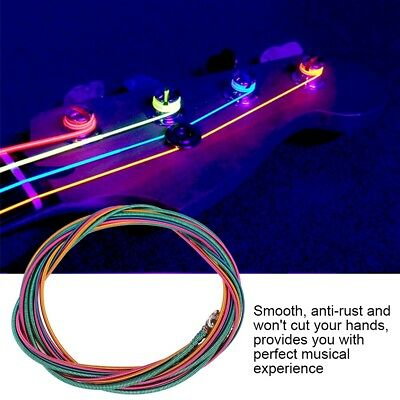 4Pcs Colorful 4 String Electric Bass Strings Bass Guitar Strings Set .046-.100
