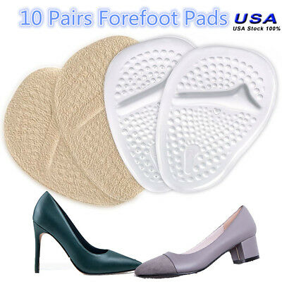 10 Pairs Silicon Gel Ball of Foot Cushions Forefoot Insoles Shoe Pads Inserts