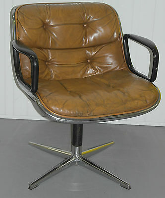 Original 1963 Knoll Charles Pollock Executive Chair With All Original Labels