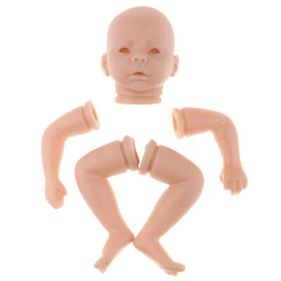Lovoski 18inch Unpainted Reborn Supplies Silicone Baby Head Full Limbs Molds